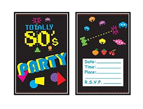 Bargain World 80's Invitations (with Sticky Notes) -
