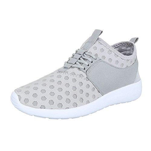 Ital-Design - Zapatillas de Material Sintético para mujer gris