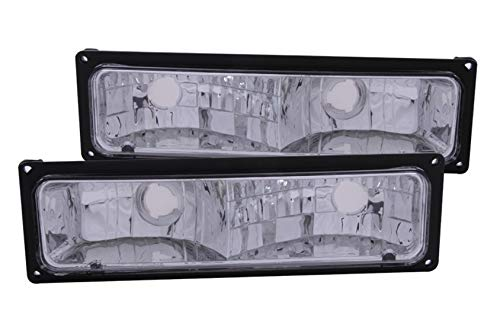 Anzo USA 511033 Chevrolet Black Parking Light Assembly - (Sold in Pairs)