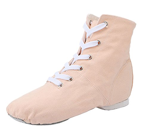 Boots Shoes missfiona Over Modern Nude Canvas The Dance Ankle Jazz 8 Ballroom Lace Womens up nrwqRcB78r