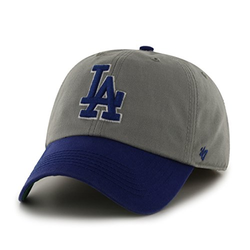 '47 MLB Los Angeles Dodgers Franchise Fitted Hat, Gray, Large (Mlb Mens Accessories)