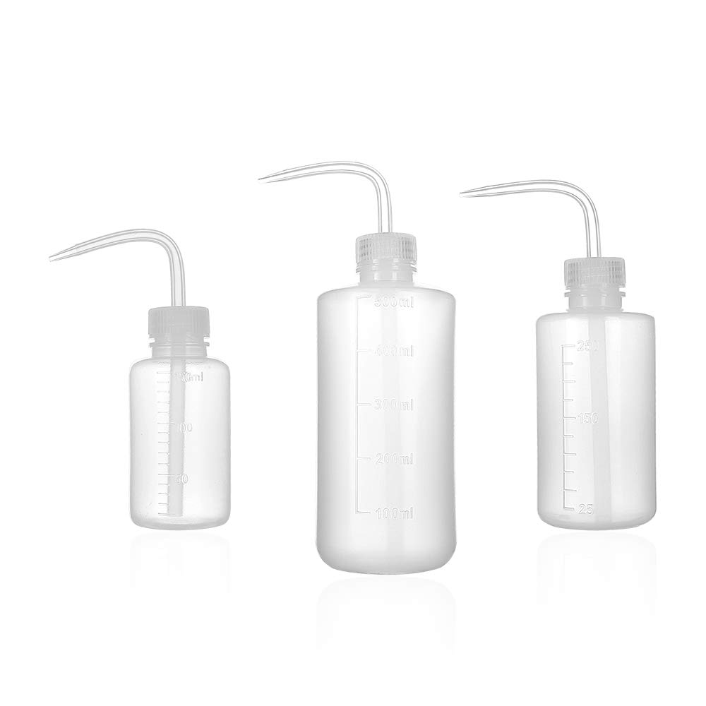 ZELARMAN 3-Pack Plant Flower Watering Bottle/Succulent Watering Cans Plastic Squeeze Bottle with Bend Mouth/Garden & Indoor Watering Tools (150ML,250ML,500ML)
