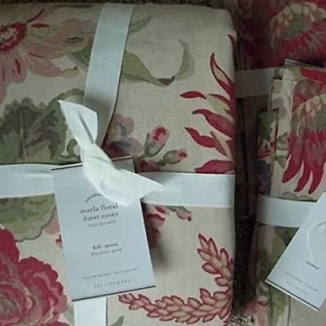 Pottery Barn MARLA FLORAL Duvet Cover Full Queen Two Standard Shams