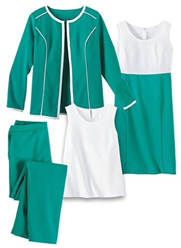 Bordo Wardrober Amerimark 4 Pezzi In A Contrasto Verde BPwdqU