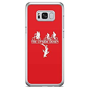 Loud Universe Demegrogon Stranger Things Samsung S8 Case Upside Down Red Samsung S8 Cover with Transparent Edges