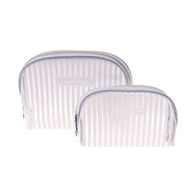 2 in 1 Clear Backpack School Bookbag Pencil Case Travel Clear Makeup Bags New