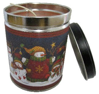 Our Own Candle Company Gingerbread Vanilla Scented Candle in 13 Ounce Tin with a Snowman Label