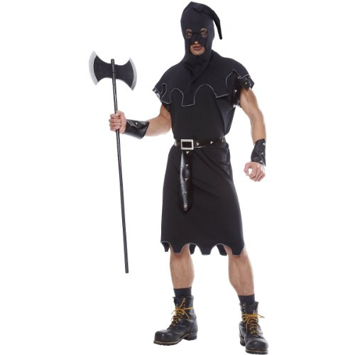 Costume Culture Men's Executioner Costume, Black, Standard