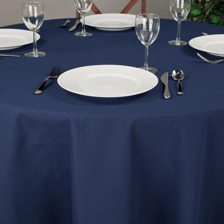 Riegel Premier Hotel Quality Tablecloth, 132'' Round, Blue by riegel