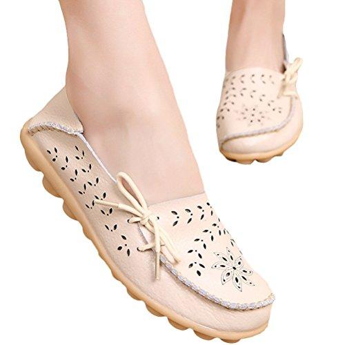 Erbsenschuhe Damen Flatschuhe Vogstyle Low Schuhe Slipper top Beige 2 Casual Art Bqxw1PR