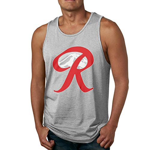 Rainier Beer Capital R Mountain Men's Athletic Tank Top Quick-Dry Running Shirt Gray