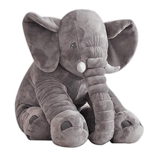 VSFNDB Elephant Stuffed Animal 13 Inches Plush Toy Gray Soft Cushion Stuff Dolls - Stuffed Elephant Cushion Doll Toy for Kids Children's Girl Boy Gifts - 13