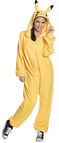 (Rubie's Men's Pokemon Pikachu Jumpsuit Costume, As As Shown)