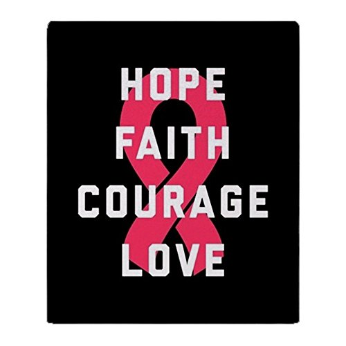 CafePress - Hope Faith Courage Love - Soft Fleece Throw Blanket, 50''x60'' Stadium Blanket by CafePress