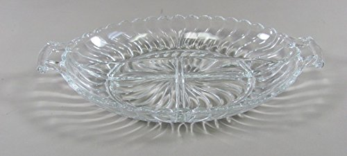 Fostoria Glass COLONY-CLEAR 3 Part Relish Dish(es) Mulit Avail Excellent ()