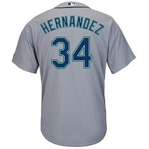 Mariners Youth Replica Jersey - Felix Hernandez Seattle Mariners Gray Youth Cool Base Road Replica Jersey (Medium 10/12)