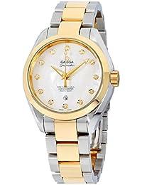 Omega Seamaster Aqua Terra Automatic Diamond White Mother of Pearl Dial Ladies Watch 23120342055002