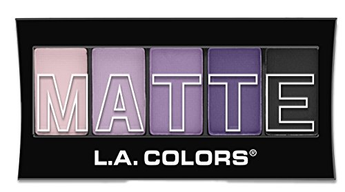 L.A. Colors 5 Color Matte Eyeshadow, Purple Cashmere, 0.08 Ounce