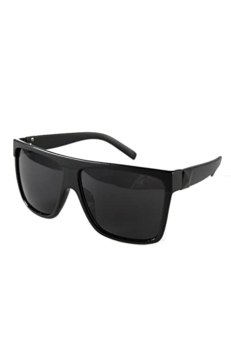55b16cfb0f95 Amazon.com: TOOGOO(R)Unisex Large Frame Flat Top Square Sunglasses Black:  Sports & Outdoors