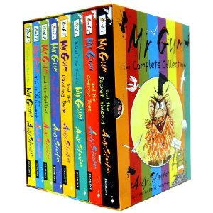 Mr Gum Collection 8 Books Box Gift Set Pack Andy Stanton Collection (You're A Bad Man Mr Gum, Mr Gum & Biscuit Billionaire, Mr Gum & The Goblins, Mr Gum & The Power Crystals, Mr Gum & The Dancing Bear, What's for Dinner, Mr Gum?, Mr Gum and the Cherry Tree, Mr Gum and the Secret Hideout)