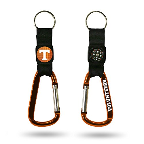 Tennessee Volunteers Ncaa Key Ring - NCAA Tennessee Volunteers Navi-Biner Keychain Carabiner with Compass