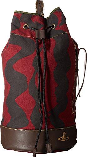 Vivienne Westwood Unisex Africa Duffel Bucket Bag Maroon One Size by Vivienne Westwood
