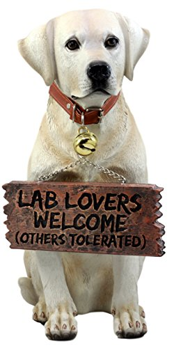 - Ebros Gift Yellow Labrador Retriever Statue 13.25