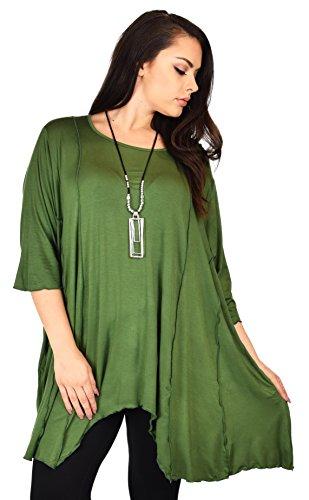 aa997e47fd3de Dare2BStylish Women Plus Size Asymmetrical Fishtail Tunic Top w Side Pockets