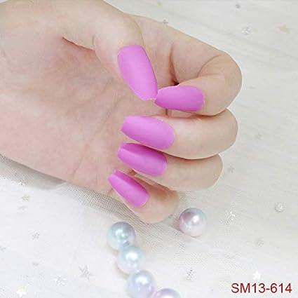 SMARTRICH uñas postizas acrílicas, esmalte mate decorado ...