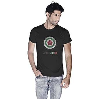 Creo Captain Jordan Superhero T-Shirt For Men - L, Black
