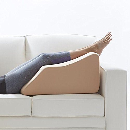 Lounge Doctor Elevating Leg Rest Pillow Wedge Foam w Cappuccino Cover Large Foot pillow Leg Support leg swelling vein issues lymphedema restless legs Pregnancy by The Lounge Dr. (Image #6)