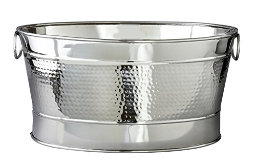 NYC Decor Hammered Finish Stainless Steel Party Tub, 20'' L by NYC Decor