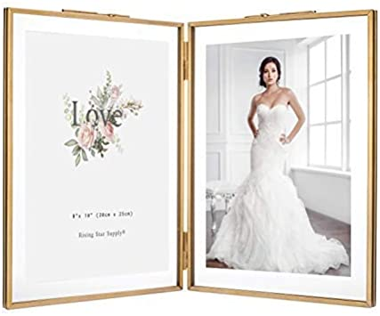 Rising Star Silver Plated Double Picture Frames 8x10 Hinged Photo Frame