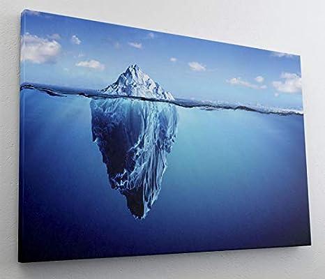 Eisberg Meer Spiegelung Leinwand Bild Wandbild Kunstdruck L1344 Gr/ö/ße 70 cm x 50 cm