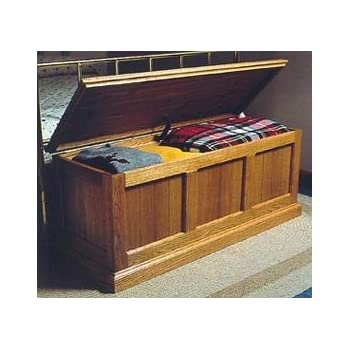 Cedar Lined Oak Chest Woodworking Paper Plan Pw10053 Indoor