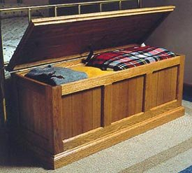 - CEDAR LINED OAK CHEST WOODWORKING PAPER PLAN PW10053