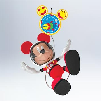 2011 Hallmark MICKEY & TOODLES IN SPACE Mickey Mouse Clubhouse Ornament - QXD1617 by Hallmark (Mickey Mouse Toodles)