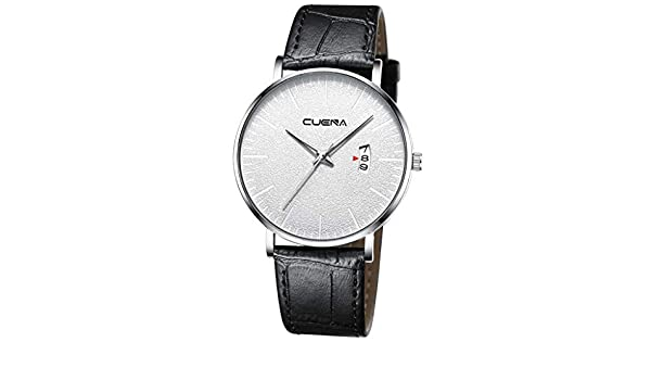 Amazon.com: XBKPLO Mens Quartz Watch,Business Fashion Analog Wrist Multi Function Calendar Date Window Watches Leather Strap: Pet Supplies