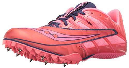 Saucony Women's Spitfire 4 Track Shoe Pink/Grey 11 M US [並行輸入品]