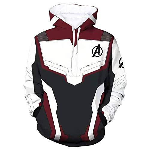 Unisex Endgame Hoodie Superhero Hoodie Adult Sweatshirt Jacket Sweatpants for Halloween Cosplay Costume (White NO:3, 4-XL)