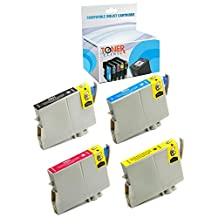 Toner Clinic ® TC-T060 4PK 1 Black 1 Cyan 1 Magenta 1 Yellow Remanufactured Inkjet Cartridge for Epson T060 60 #60 T0601 T0602 T0603 T0604 Compatible With Epson Stylus C68 C88 C88+ C88Plus CX3800 CX3810 CX4200 CX4800 CX5800 CX5800f CX7800 D68P D88 D88+ D88Plus DX3800 DX4800 T060120 T060220 T060320 T060420 - 4 Pack Remanufactured Inkjet Cartridges