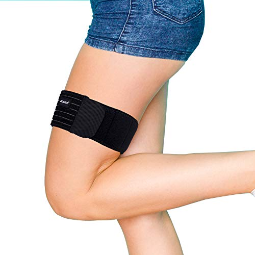 2U2O Thigh Brace-Adjustable Compression IT Band Upper Leg Wraps for Knee Pain, Hip, Thigh & ITB Syndrome Support -Athletic Stabilizer for Men, Women