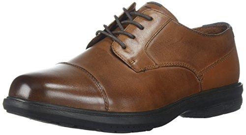 Nunn Bush Men Maretto Cap Toe Oxford with KORE Slip-Resistant Comfort Technology, Tan, 11 Wide US (Nunn Bush Slip Resistant)
