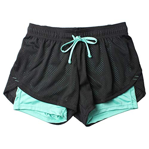 Women's Sports Shorts Anti Emptied Quick-dry Short Pants Fitness Loose Trousers