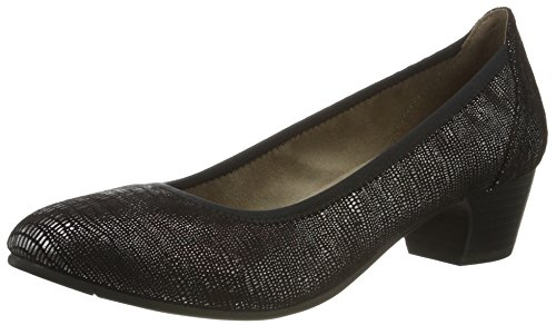 Softline Damen 22361 Pumps Schwarz (BLACK MET STRU 097)