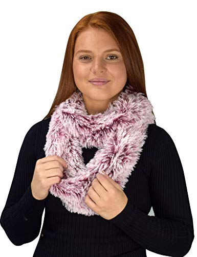 Peach Couture Faux Fur Warm Soft Thick Infinity Loop Circle Scarves Neck Warmers