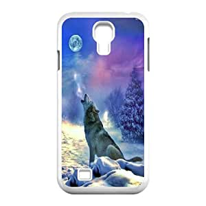 Wolf and moon,smart wolf series protective cover For SamSung Galaxy S4 Case u-ycq-s52195