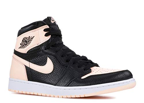 Nike Men's's Air Jordan 1 Retro High OG 555088 081 (M 10 / W 11.5, Black/White/Hyper Pink/Crimson Tint)