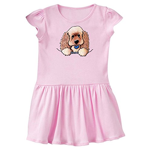 inktastic Pocket Cocker Spaniel Toddler Dress 4T Ballerina Pink - KiniArt 2e56 (Brittany Cocker Spaniel)