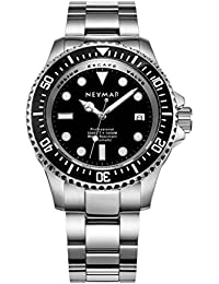 Men's 44mm Automatic Watch 1000m Dive Watch Stainless Steel Color 500m Automatic Watch…